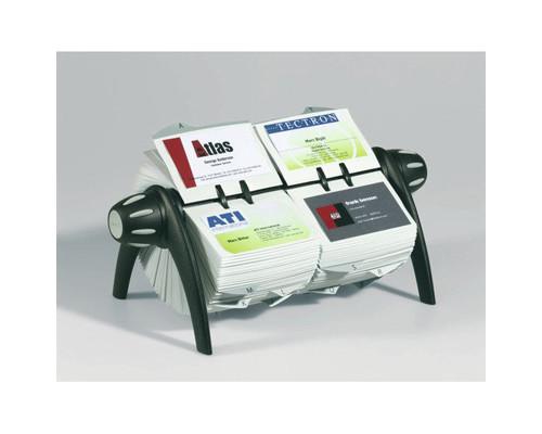 Картотека Durable Visifix Duo Vegas на 600 визиток вращающаяся черная-серебристая - (206331К)