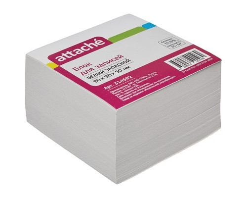 Блок-кубик Attache запасной белый 90х90х50 мм - (314592К)