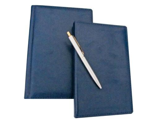 Набор недатированный Attache Офис синий ежедневник А5 визитница ручка - (106542К)