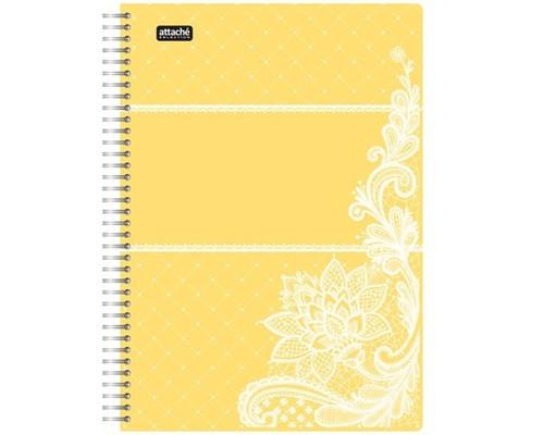 Бизнес-тетрадь Attache Selection Амели А5 80 листов желтая в клетку на спирали 210х152 мм - (487294К)
