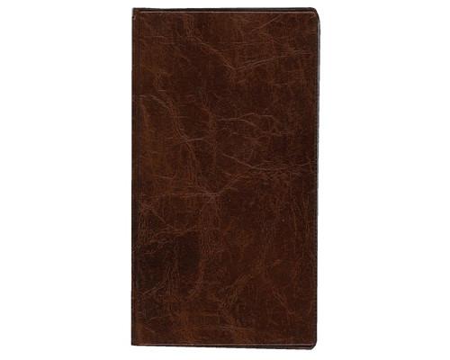 Визитница настольная пластиковая на 120 визиток коричневая - (154193К)