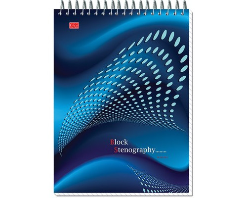Блокнот Stenography А5 60 листов в ассортименте в клетку на спирали 145х203 мм - (14919К)
