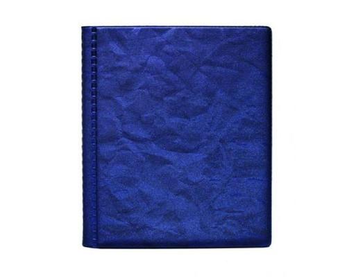 Визитница настольная пластиковая на 48 визиток синяя - (456900К)