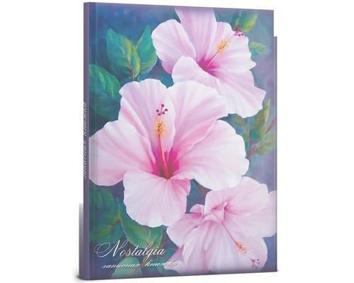 Бизнес-тетрадь Проф-пресс Розовые цветы А5 64 листа цветная в клетку твердый переплет 145х205 мм - (494398К)