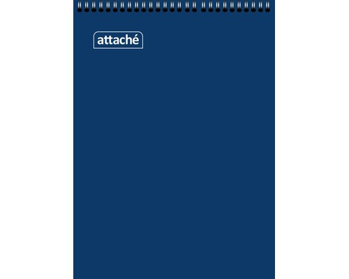 Блокнот Attache А6 60 листов синий в клетку на евроспирали - (650135К)