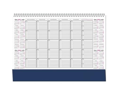 Планинг недатированный Attache картон 12 листов синий 490х350 мм - (136210К)