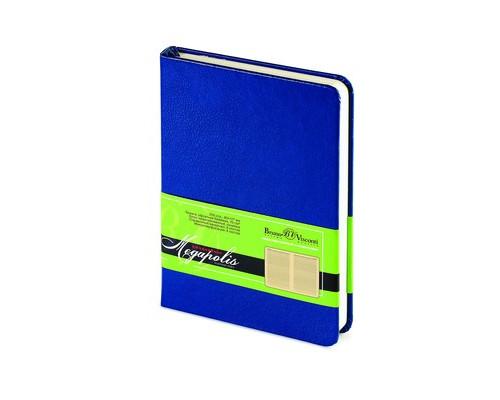 Ежедневник недатированный Br.V.Megapolis А6 100 листов синий 87x130 мм - (198823К)