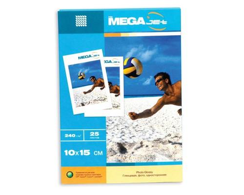 Фотобумага MEGA Jet Photo глянцевая 10х15 240 г/кв.м 25 листов - (77386К)