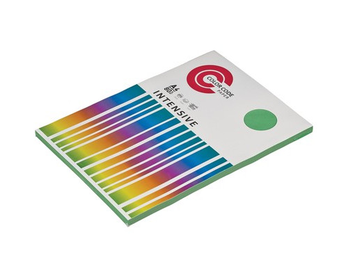 Бумага цветная ColorCode Intensive А4 зеленая 80 г/кв.м 100 листов - (473437К)