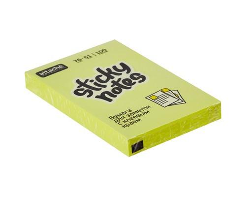 Клейкие листки Attache Selection 76x51 мм желтые неоновые 100 листов - (383708К)