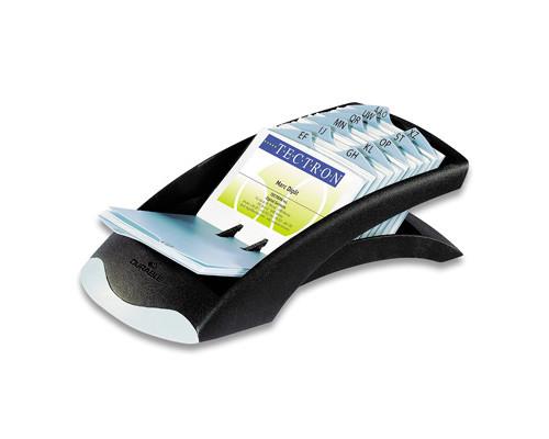Картотека Durable Visifix Desk на 200 визиток черная-серебристая - (48931К)