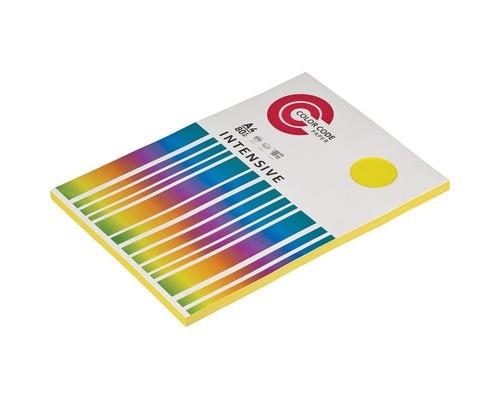 Бумага цветная ColorCode Intensive А4 желтая 80 г/кв.м 100 листов - (473355К)