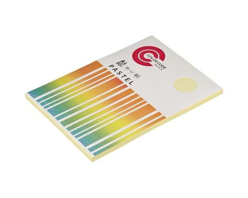 Бумага цветная ColorCode Pastel А4 желтая 80 г/кв.м 100 листов - (473347К)