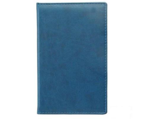 Визитница настольная Attache Вива искусственная кожа на 72 визитки синяя - (61165К)
