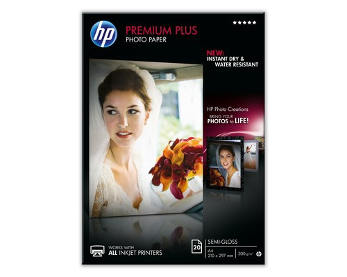 Фотобумага HP CR673A Premuim Plus полуглянцевая А4 300 г/кв.м 20 листов - (233714К)