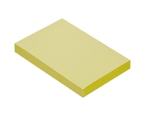 Клейкие листки 51x76 мм желтые пастельные 100 листов - (359815К)