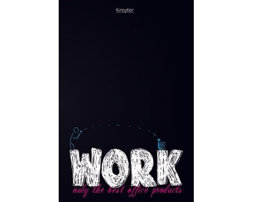 Бизнес-тетрадь Kroyter Офис А4 48 листов цветная в клетку на скрепке 295х207 мм - (375802К)