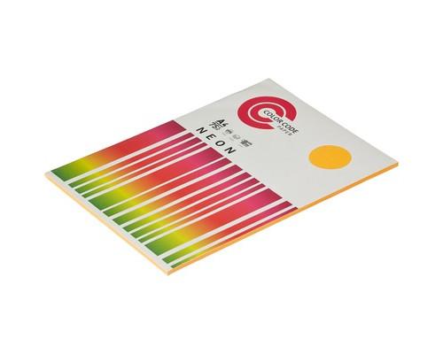 Бумага цветная ColorCode Neon А4 оранжевая 75 г/кв.м 100 листов - (473364К)