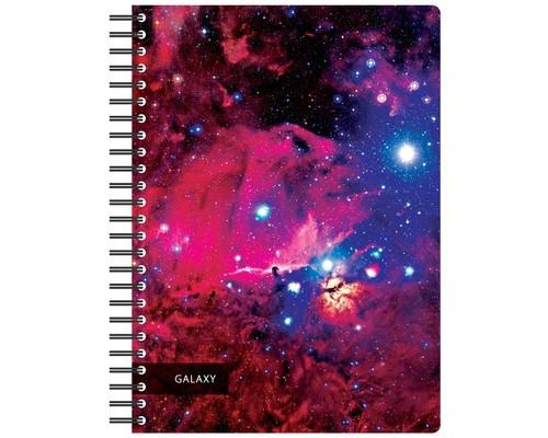 Бизнес-тетрадь Attache Selection Space Galaxy А5 120 листов в ассортименте в клетку на спирали 210х152 мм - (487290К)