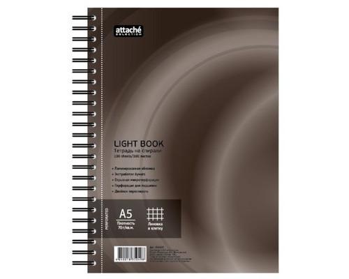 Бизнес-тетрадь Attache Selection LightBook А5 100 листов коричневая в клетку на спирали 160х204 мм - (494593К)