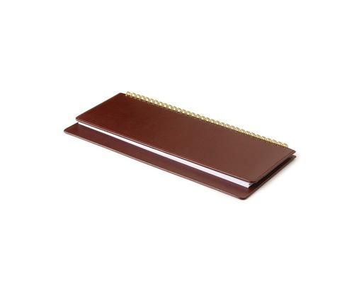 Планинг недатированный Attache Sidney искусственная кожа 64 листа коричневый 305х130 мм - (85004К)