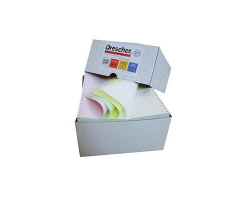 Самокопирующая компьютерная бумага Drescher 240 мм х 12 дюймов 3-слойная разноцветная 600 листов в упаковке - (274273К)