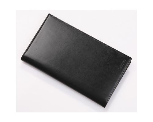 Визитница настольная Befler натуральная кожа на 120 визиток черная - (107225К)