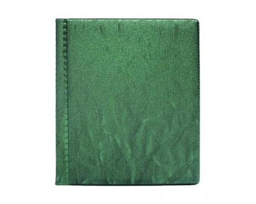 Визитница настольная пластиковая на 48 визиток зеленая - (456901К)