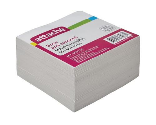 Блок-кубик Attache на склейке белый 90х90х50 мм - (605139К)