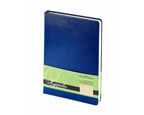 Ежедневник недатированный Bruno Visconti Megapolis А5 160 листов синий 145x215 мм - (198822К)