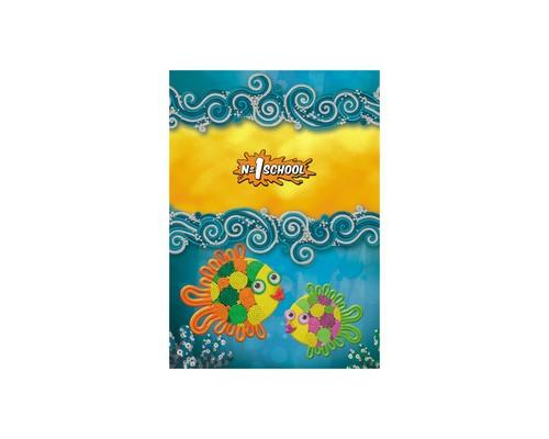 Блокнот детский №1 School Подводный мир А6 32 листа клетка скрепка - (402678К)