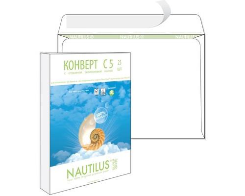 Конверт почтовый Bong Nautilus С5 162x229 мм экологичный белый удаляемая лента 25 штук в упаковке - (389225К)
