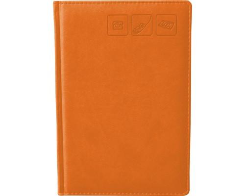 Телефонная книга Attache Сиам искусственная кожа А5 120 листов оранжевая 142х210 мм - (209673К)