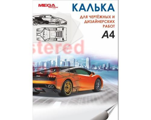 Калька Mega Engineer А4 40 г/кв.м 40 листов - (330303К)