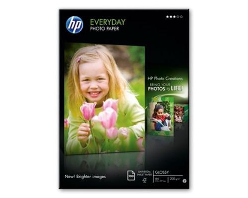 Фотобумага HP Q2510A Photo глянцевая A4 200 г/кв.м 100 листов - (60300К)
