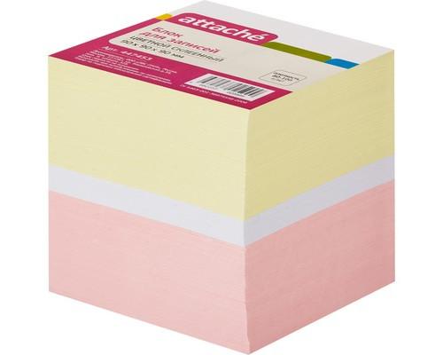 Блок-кубик Attache на склейке цветной 90х90х90 мм - (447453К)