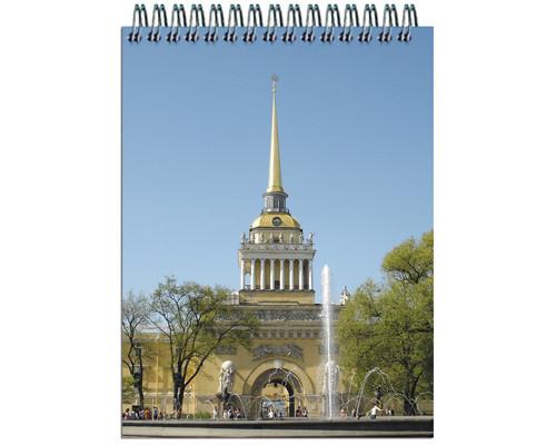 Блокнот Полином Виды Санкт-Петербурга А7 40 листов в ассортименте в клетку на спирали 74х105 мм - (318906К)