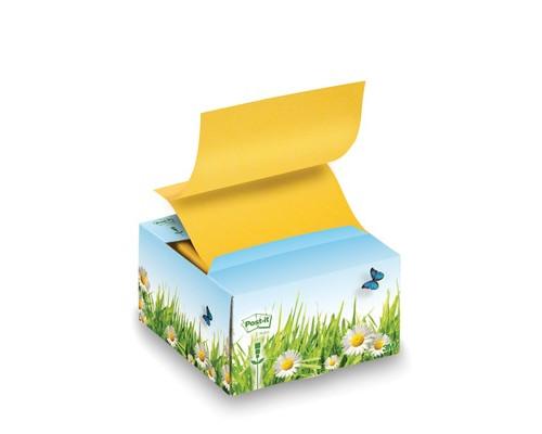 Картонный диспенсер Post-it Цветы с Z-кубиком 200 листов - (141011К)