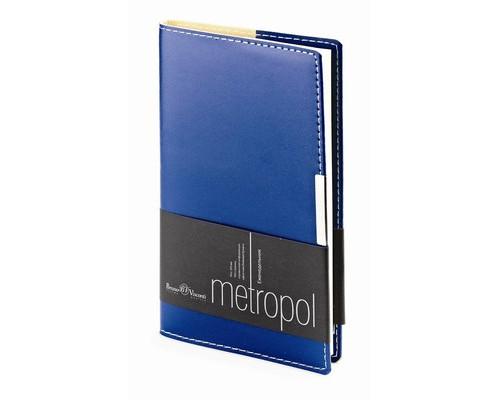 Еженедельник недатированный Metropol картон А6 80 листов синий 102x177 мм - (468441К)