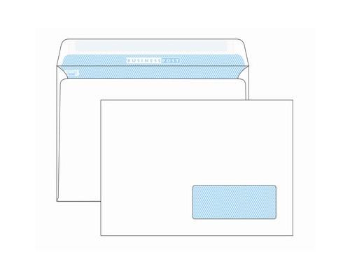 Конверт почтовый BusinessPost C5 162x229 мм белый удаляемая лента правое окно 1000 штук в упаковке - (76405К)