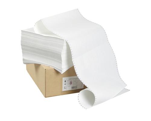 Перфорированная бумага однослойная ProMega 420 мм x 610 м 60 г/кв.м 2000 листов в упаковке - (6512К)