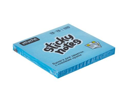 Клейкие листки Attache Selection 76x76 мм голубые неоновые 100 листов - (383706К)