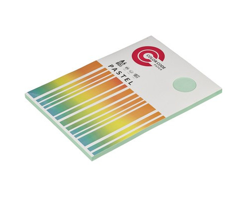 Бумага цветная ColorCode Pastel А4 зеленая 80 г/кв.м 100 листов - (473348К)