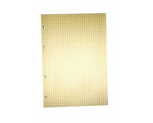 Сменный блок для тетрадей A5 80 листов оранжевый клетка - (406729К)