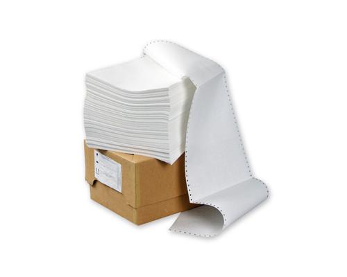Перфорированная бумага однослойная ProMega 210 мм x 458 м 60 г/кв.м 1500 листов в упаковке - (212460К)