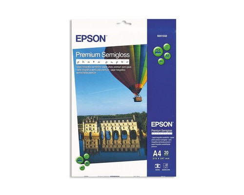 Фотобумага EPSON s041332 Premuim Photo полуглянцевая А4 251 г/кв.м 20 листов - (74180К)
