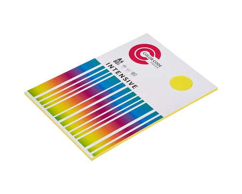 Бумага цветная ColorCode Intensive А4 желтая 80 г/кв.м 50 листов - (473353К)