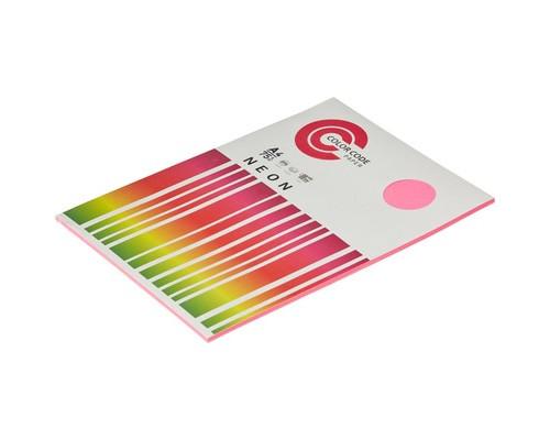 Бумага цветная ColorCode Neon А4 малиновая 75 г/кв.м 50 листов - (473357К)