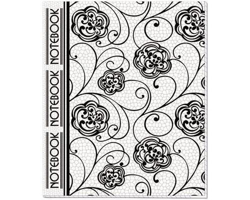 Тетрадь общая Полином Узоры А5 48 листов клетка на скрепке - (167623К)