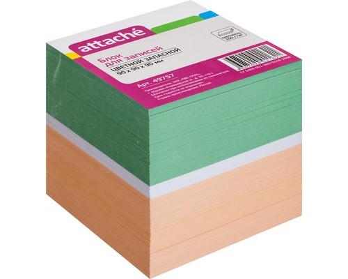 Блок-кубик Attache запасной цветной 90х90х90 мм - (49757К)
